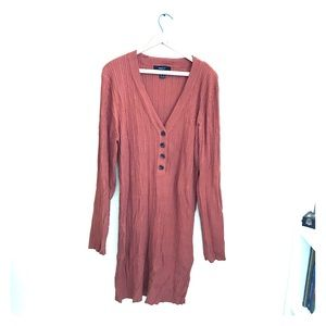 Worn once! Ribbed body-con dress!